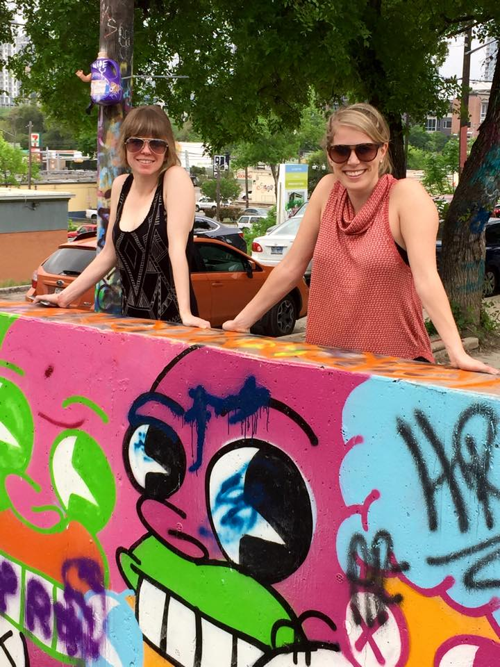 with Shana at the graffiti park.