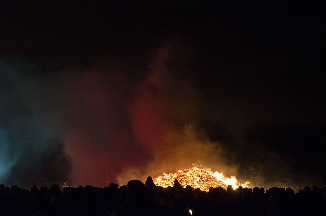 Bonfire in Reykjavik, via  MongFish on Flickr CC.