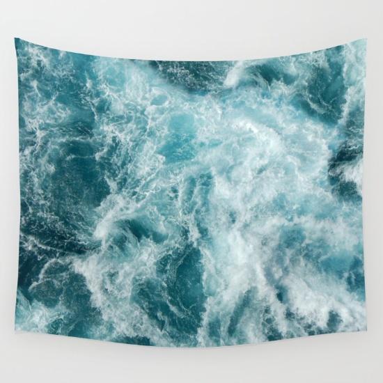 Sea Wall Tapestry via Society6